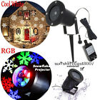 Outdoor LED Moving Snowflake Landscape Laser Projector Lamp Xmas Garden Decor