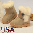 Warm Winter Baby Girls Shoes Anti Slip Rubber Sole Toddler Snow Boots Shoes US
