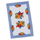 Fruit Country Cotton Kitchen Towel Blue Gingham Vintage Style
