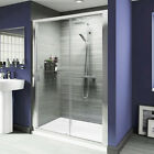 Shower Enclosure 6mm Glass Sliding Door Cubicle Screen Side Panel and Stone Tray