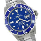 ROLEX MENS SUBMARINER OYSTER PERPETUAL S/STEEL 16610 CERAMIC BLUE DIAMOND WATCH