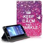 Keep Calm And Sparkle 7* 8* 10* Tablet Universal Folio Stand Box Case For Apple