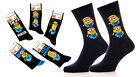 Mens Novelty Socks Despicable Me Minion One In A Million Cartoon Character Socks