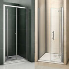 Bifold walk in frame shower enclosure glass door screen 700/760/800/860/900/1000