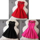 Elegant Women Evening Party Cocktail Short Mini Dresses Sleeveless Casual Dress