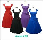 dress190 CLEARANCE CAP SLEEVE 50s ROCKABILLY PROM BALL EVENING PARTY DRESS 8-22
