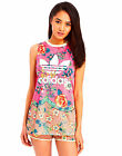 ADIDAS Originals Women FARM Jardineto Floral Trefoil Mesh Tank Vest Top UK 10 12
