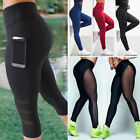 Womens Exercise Leggings Running Yoga Sports Fitness Stretch Pants Trousers S211