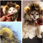 Pet Costume Lion Mane Wig for Cat Dog Halloween Clothes Fancy Dress up Ears JR