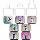MARC ALLANTE SILHOUETTES WHITE UK CHARGER & MICRO-USB CABLE FOR LG PHONES 2