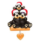 personalized family ornaments - PERSONALIZED CHRISTMAS ORNAMENTS-BLACK BEAR FAMILY