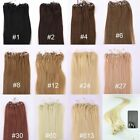Loop Micro Rings Extensions AAA Grade New Remy 100% Human Hair Straight 100s