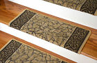 Dean Bullnose Non-skid DIY Carpet Stair Treads - Garden Path Gold & Brown