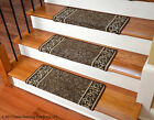 Dean Bullnose Wraparound Non-skid Carpet Stair Treads - Garden Path Brown