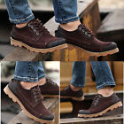 Men's Fashion Real Leather Dress Shoes Retro Suede Casual Loafer Shores Flat New