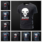 Vintage Creative Overwatch Heros Cotton Short Sleeve T-shirt Casual Teen Tee&Top