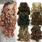 NEW Women Lady Full Head Clip in Hair Extensions Extension Natural for human HG6