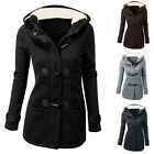 Korean Women Hooded Long Sleeve Jacket Overcoat Blazer Parka Trench Coat Outwear