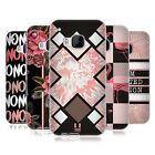HEAD CASE DESIGNS BLACK & PINK SOFT GEL CASE FOR HTC PHONES 1