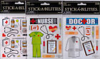 The Paper Studio Stickabilities MEDICAL Themed Stickers~Adorable! Quick Ship