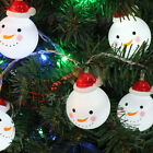 String Fairy Lights Battery Operated Snowman Christmas Party Decor