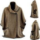 Cape Coat Boiled wool Big Size taupe MAURICE taupe