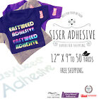 "SISER EasyWeed ADHESIVE Heat Transfer Vinyl 12"" x 9"" to 50yards FREE SHIPPING!"