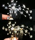 SALE Bridesmaid Prom Flower Girl Crystal Gold / Silver Plated Tiara Comb TC033
