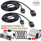 2PCS 6.5ft Extension Cable Cord for Nintendo Nes Mini Classic Edition Controller