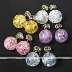 Celebrity Runway Galaxy Crystal Double Sided Cubic Zirconia Ear Studs Earrings