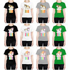 HEAD CASE DESIGNS FANCY UNICORNS 2 CHUBBY COLLECTION T-SHIRT FOR WOMEN