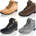 MENS BOYS LACE UP WALKING HIKING CASUAL OUTDOOR WORK ANKLE BOOTS SHOES SIZE