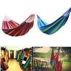 Portable Cotton Rope Canvas Fabric Hanging Camping Hammock Outdoor Swing Bed 76""