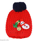New Kids Baby Christmas Warm Beanie Cap Winter Knitted Woolen Child Infant Hat