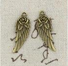 10 pcs antiqued bronze rose wing pendants Diy alloy jewelry accessoriess