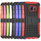 Heavy Duty Hybrid Silicone PC Hard Case Cover W Stand For Samsung Galaxy S6 Edge