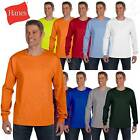 Hanes 6.1 oz Heavy Tagless 100% Cotton Long Sleeve Pocket S-XL T-Shirt R5596