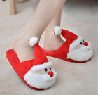Adult Kids Christmas Santa Claus Plush Slippers Winter Warm Indoor Shoes Gift