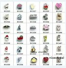 Hot 10pcs mix style Floating Charms Living Memory Glass Locket Free Shipping