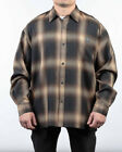 LOW RIDER  VETERANO OG PLAID  L/S SHIRTS           BROWN