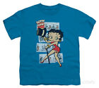 Youth: Betty Boop - Comic Strip Apparel Kids T-Shirt - Turquoise $16.99 USD on eBay