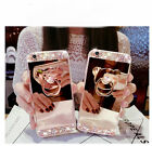 Bling Glitter Crystal Diamond Bear Kickstand Mirror Case for iPhone & Samsung