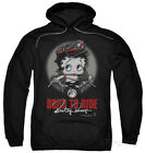 Hoodie: Betty Boop - Born To Ride Apparel Pullover Hoodie - Black $42.99 USD