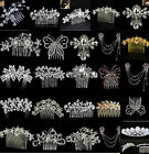 BRIDAL WEDDING CRYSTAL JEWEL DIAMANTE HAIR COMB CLIP SLIDE FASCINATOR COOL PARTY