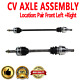 Front CV Joint Axle Shaft Pair Set For CHEVROLET AVEO5,PONTIAC WAVE Manual