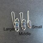 925 Sterling Silver,Snap Lock Box Clasp,With Safety Chain,Jewelry Make Findings