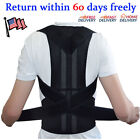 Unisex Adjustable Posture Back Support Corrector Brace Shoulder Band Belt фото