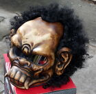 Custom Motorcycle Helmet Beast Monster Damon Hell Airbrush 3D Afro Style Hair