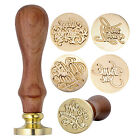 New Vintage Brass Head Wooden Handle Blessing Wax Seal Stamp Letter Card Decor
