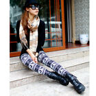 Fashion Women Girl Christmas Deer Snowflake Print Winter Leggings Warm Pants New